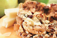 Apple and blueberry crunchy biscuits