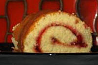 Apple jelly roll cake