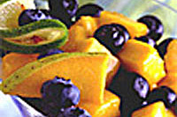 Blueberry and mango colada salad